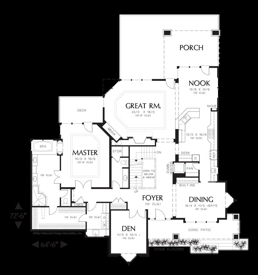 prairie house plan 2429 the kenison  4716 sqft  5 beds  4 2 baths