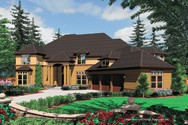 Front Rendering of Mascord House Plan 2430 - The Everton