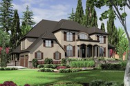 Front Rendering of Mascord House Plan 2432 - The Douglas