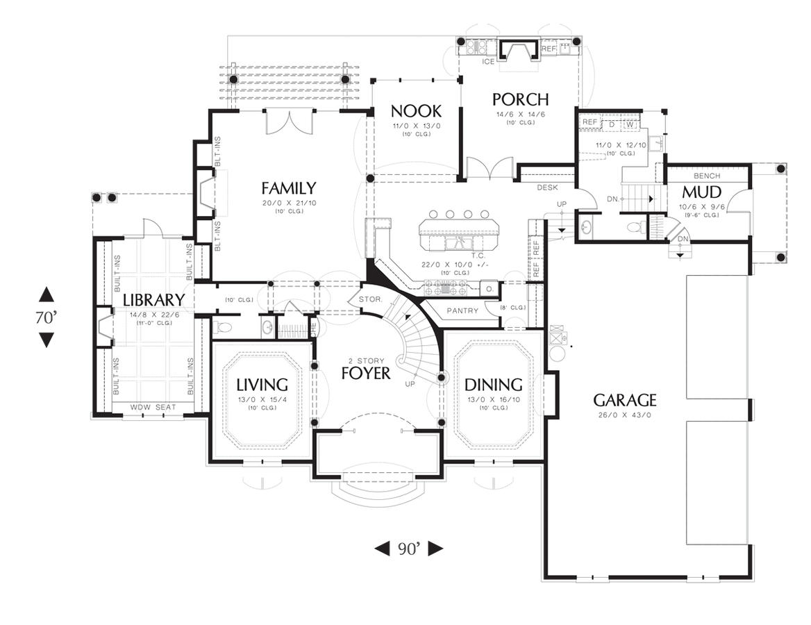 Mascord Floor Plans Part - 47: Image For Benedict-Stately European Style Home Fit For Royalty-Main Floor  Plan