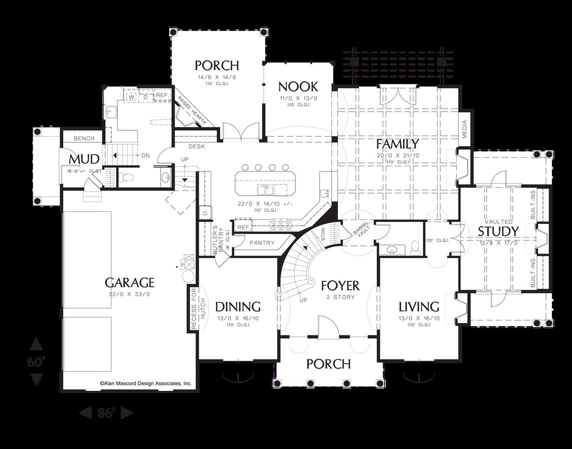 Mascord House Plan 2432 - The Douglas