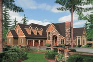 Front Rendering of Mascord House Plan 2433 - The Hutchcroft