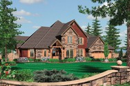 Front Rendering of Mascord House Plan 2434 - The Ellisville