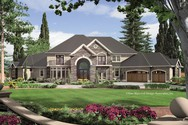 Front Rendering of Mascord House Plan 2435 - The Holden
