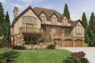 Front Rendering of Mascord House Plan 2438 - The Goldstein