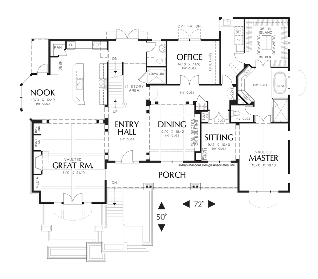 French Country House Plan 2438 The Goldstein 4762 Sqft 4 Beds 32 2012 Nissan Frontier Trailer Wiring Diagram Image For Game Room With Fireplace In Sloping Lot Main Floor