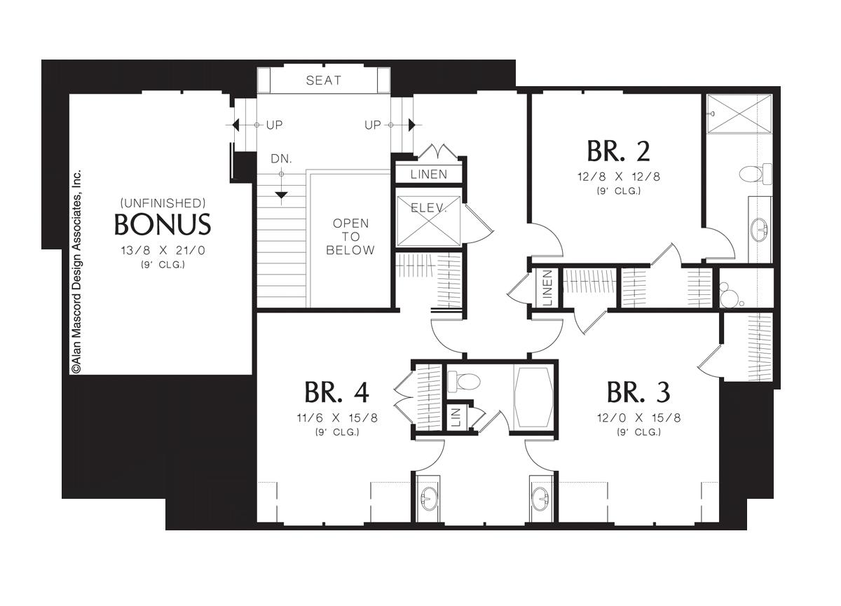 mascord house plan 2438 the goldstein