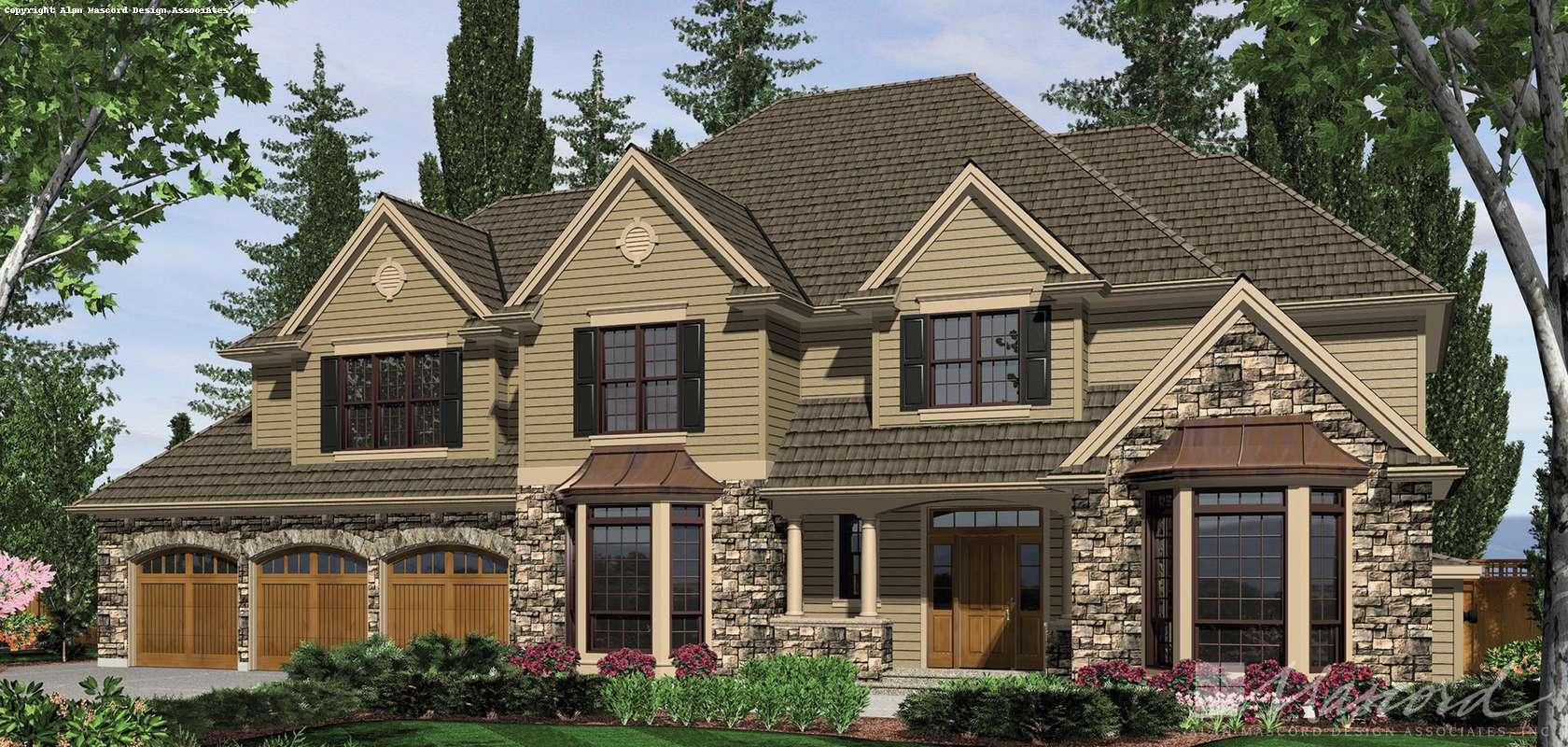Mascord House Plan B2439: The Harwood