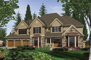 Front Rendering of Mascord House Plan 2439 - The Harwood