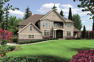 Front Rendering of Mascord House Plan 2441 - The Anniston