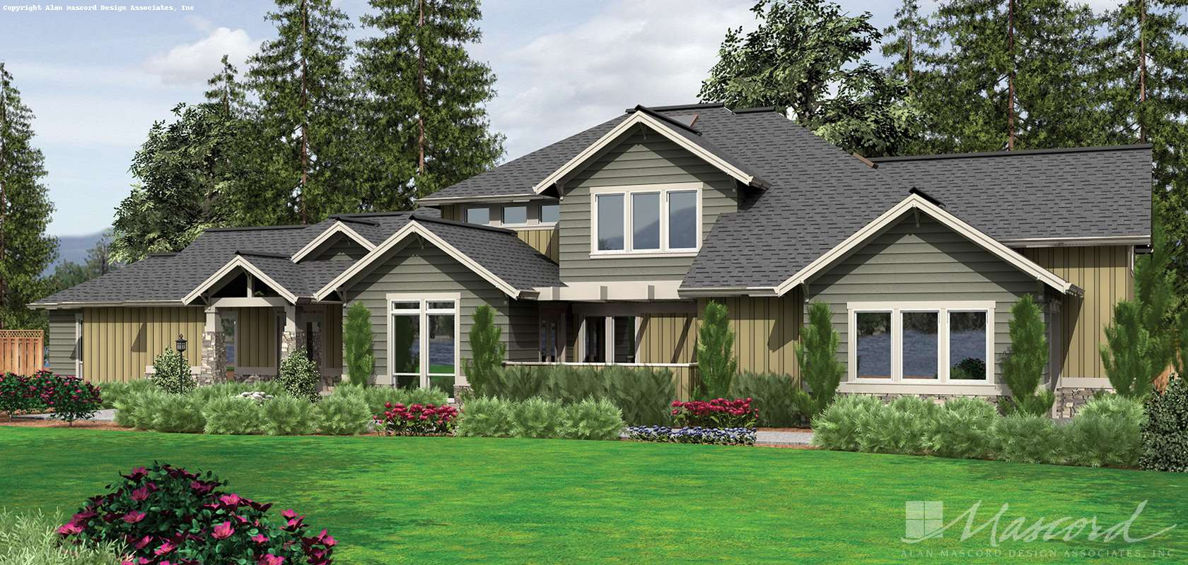 Mascord House Plan 2444: The Breckenridge