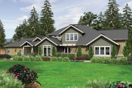 Front Rendering of Mascord House Plan 2444 - The Breckenridge