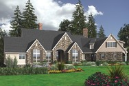 Front Rendering of Mascord House Plan 2445 - The Ackland