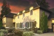 Front Rendering of Mascord House Plan 2446 - The Toussaint