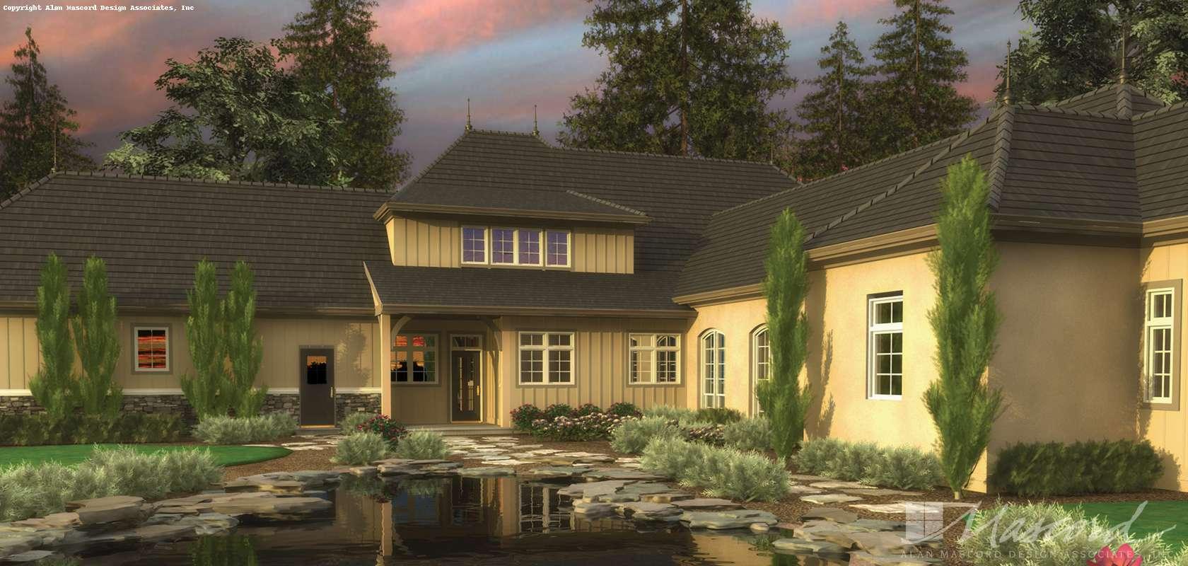 Mascord House Plan 2446: The Toussaint