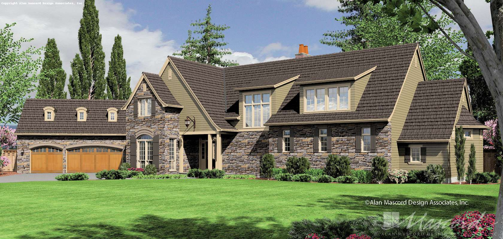 Mascord House Plan 2448: The Glendale