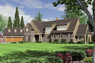 Front Rendering of Mascord House Plan 2448 - The Glendale