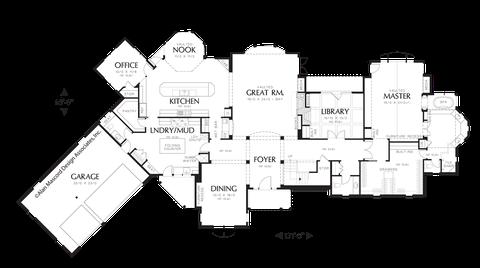 Mascord house plan 2448 the glendale for Dumbwaiter design plans
