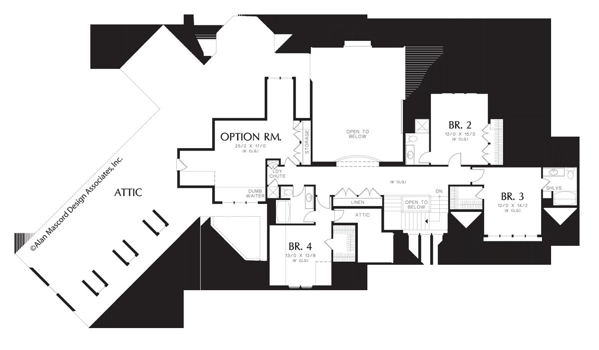 Mascord House Plan 2448 The Glendale