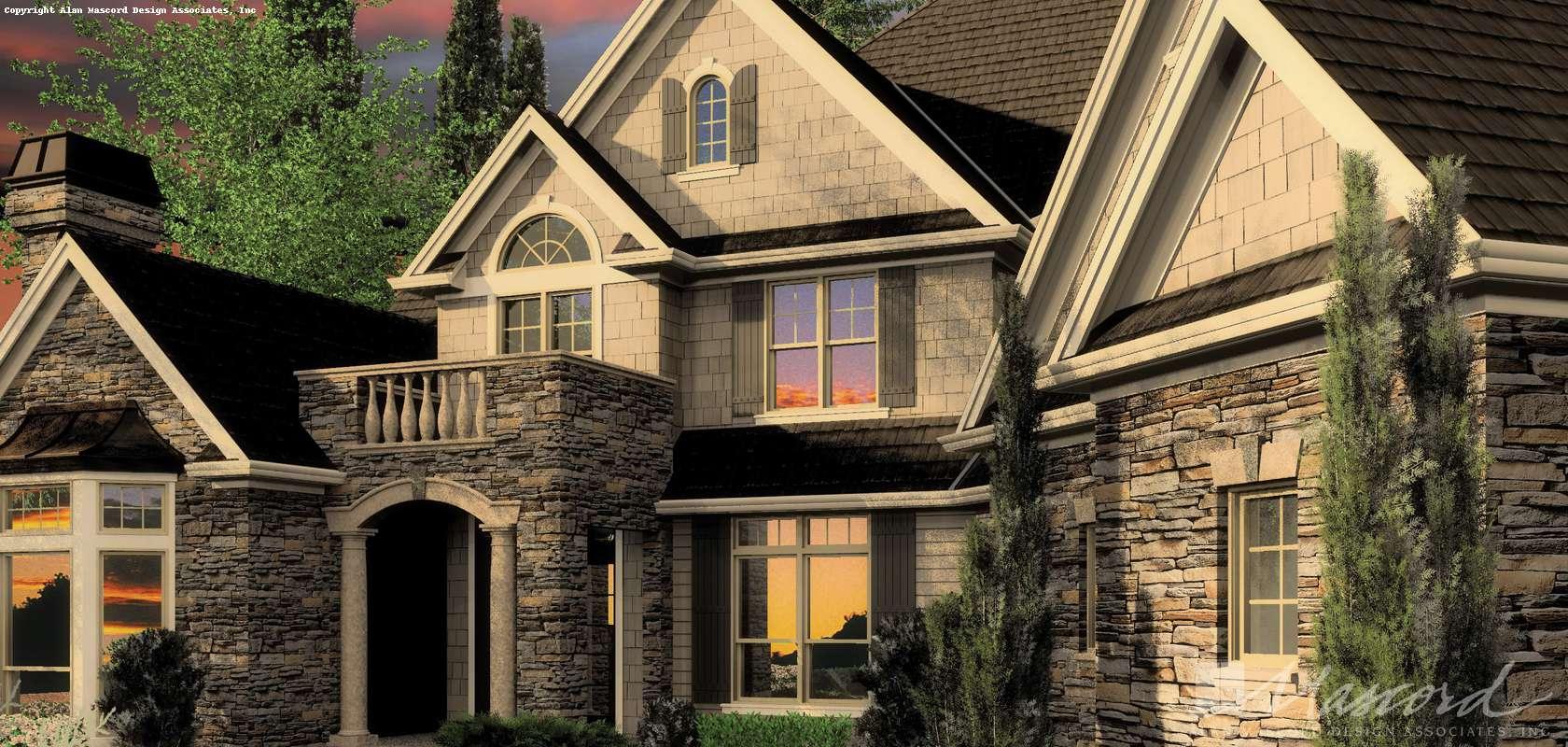 Mascord House Plan 2449: The Hallsville