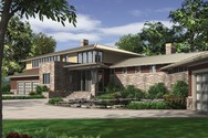 Front Rendering of Mascord House Plan 2453 - The Aurea