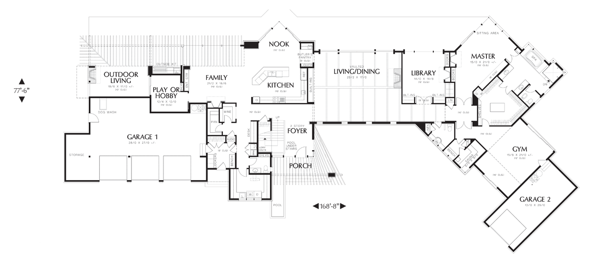 Image for Aurea-Modern Plan that Blends with Land-Main Floor Plan