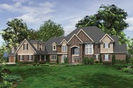 Front Rendering of Mascord House Plan 2454 - The Elstad