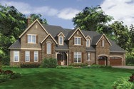 Front Rendering of Mascord House Plan 2456 - The Lyndale