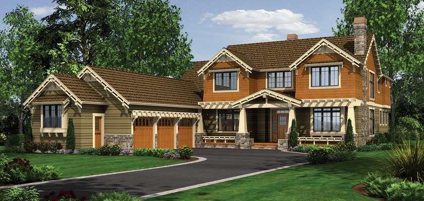 Mascord House Plan 2458: The Copper Falls