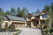 Front Exterior of Mascord House Plan 2458 - The Copper Falls