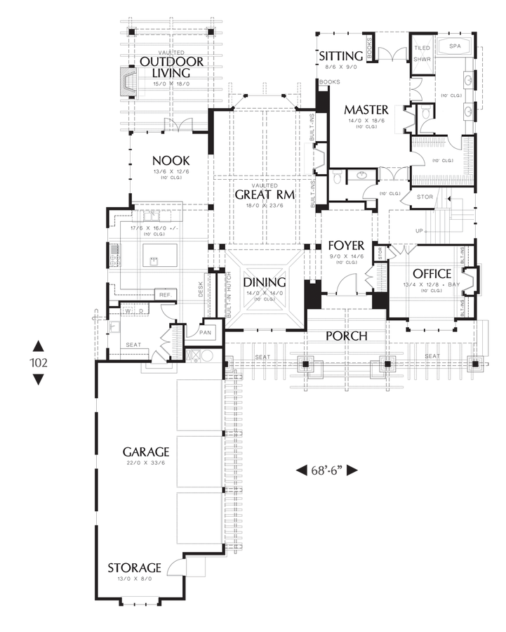 Craftsman house plan 2458 the copper falls 4372 sqft 4 for Main street homes floor plans