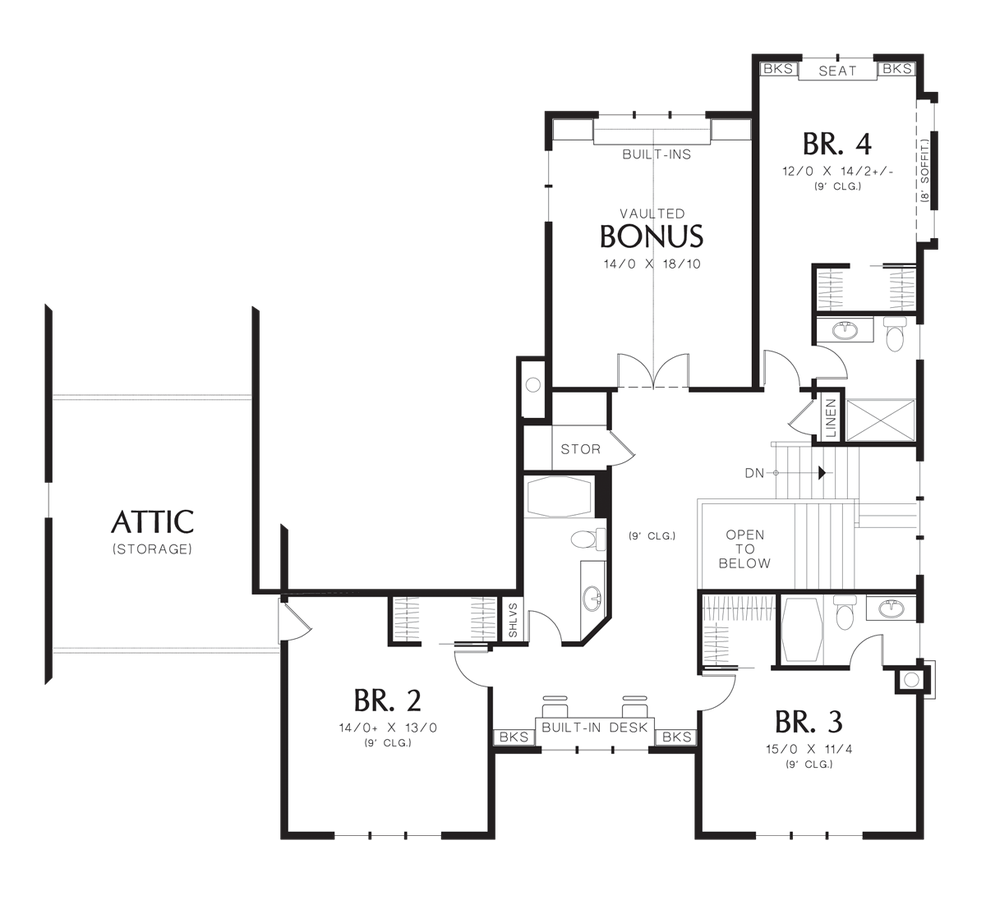 Image for Copper Falls-Featured in the 2007 Seattle Street of Dreams-Upper Floor Plan