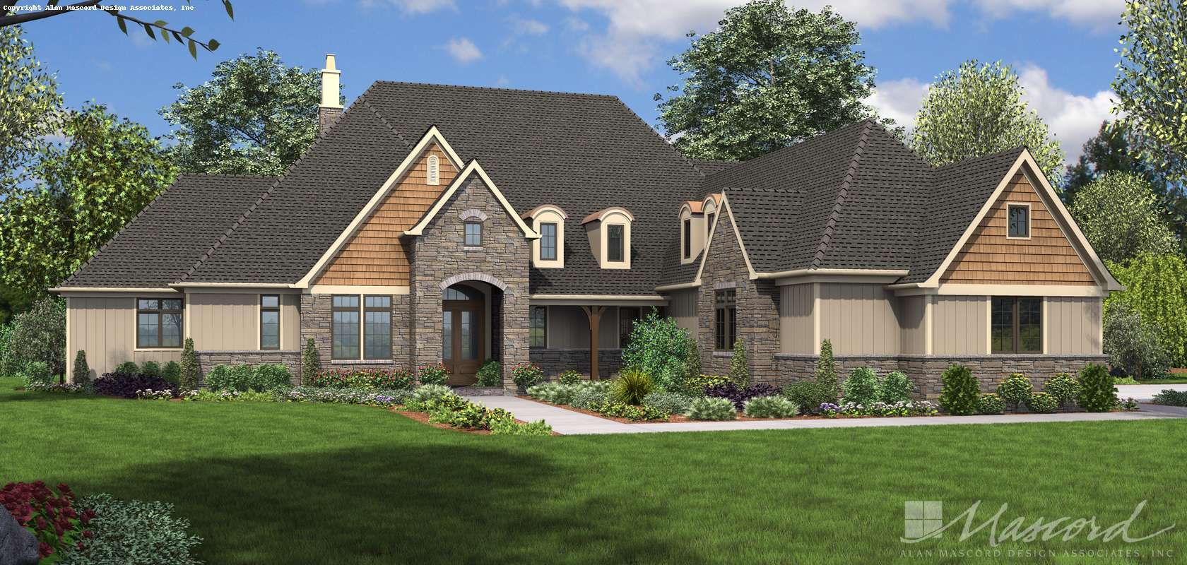 Mascord House Plan 2459A: The Williamson