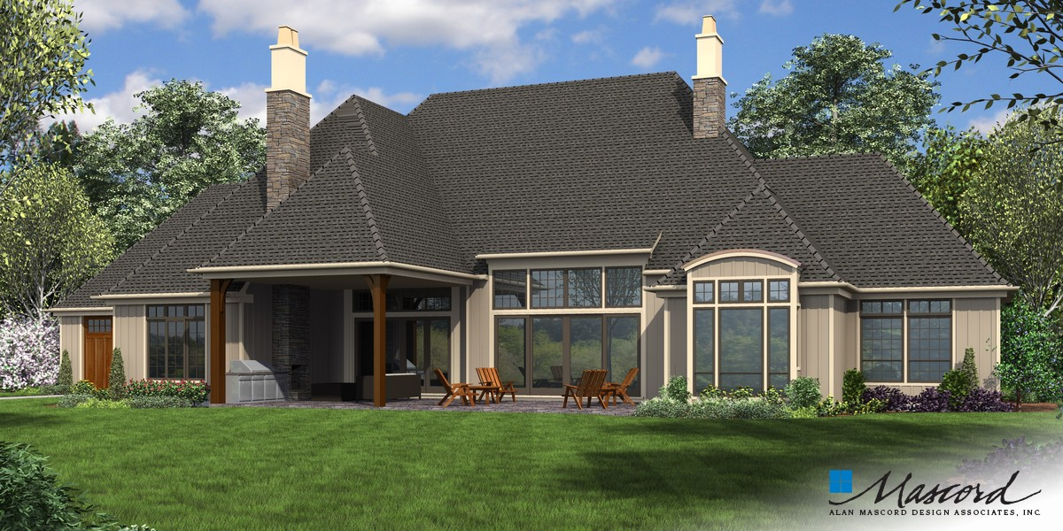 Image for Williamson-Sumptuous Manor Suited to Lakeside Living-Rear Rendering