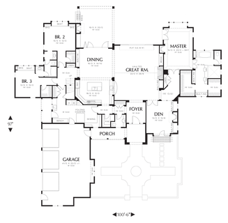 Image for Terrebonne-Featured in the 2007 Portland Street of Dreams-Main Floor Plan
