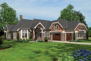 Front Rendering of Mascord House Plan 2461 - The Dennison