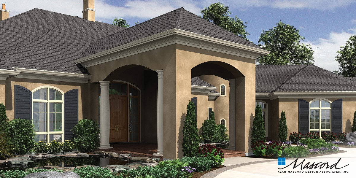 Image for Galloway-European Luxury Home Fit for Royalty-Front Rendering