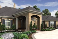 Front Rendering of Mascord House Plan 2462 - The Galloway