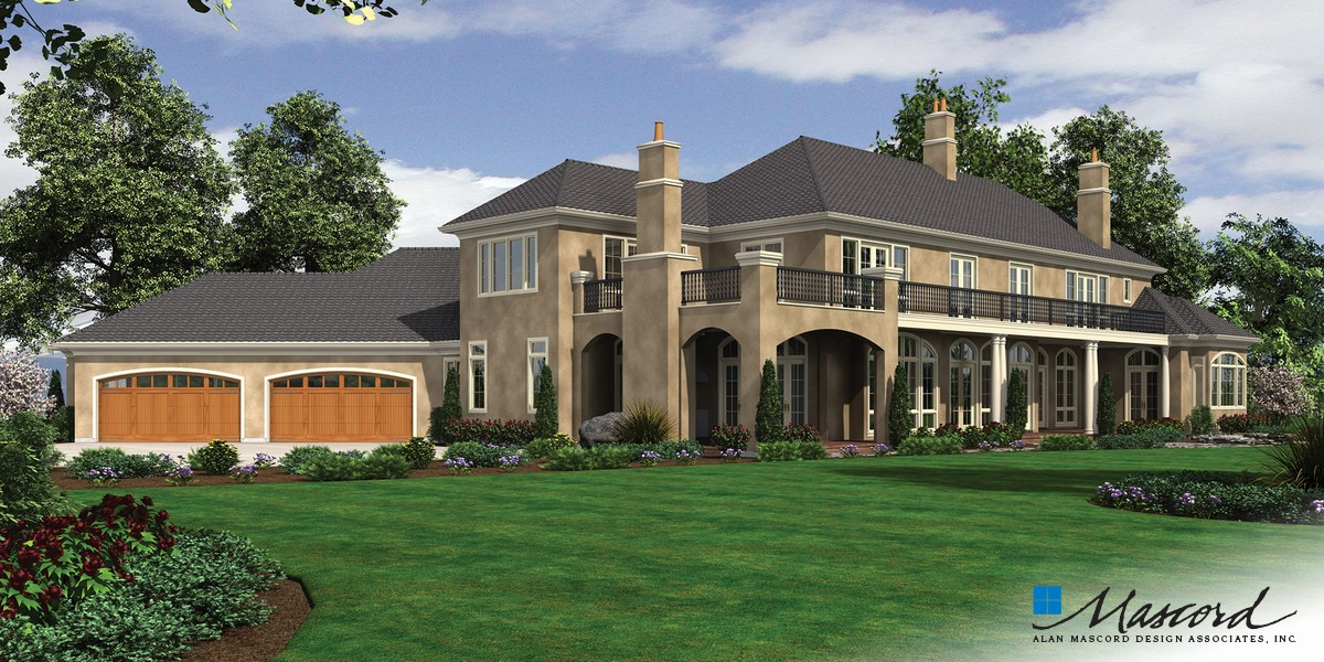 Image for Galloway-European Luxury Home Fit for Royalty-Rear Rendering