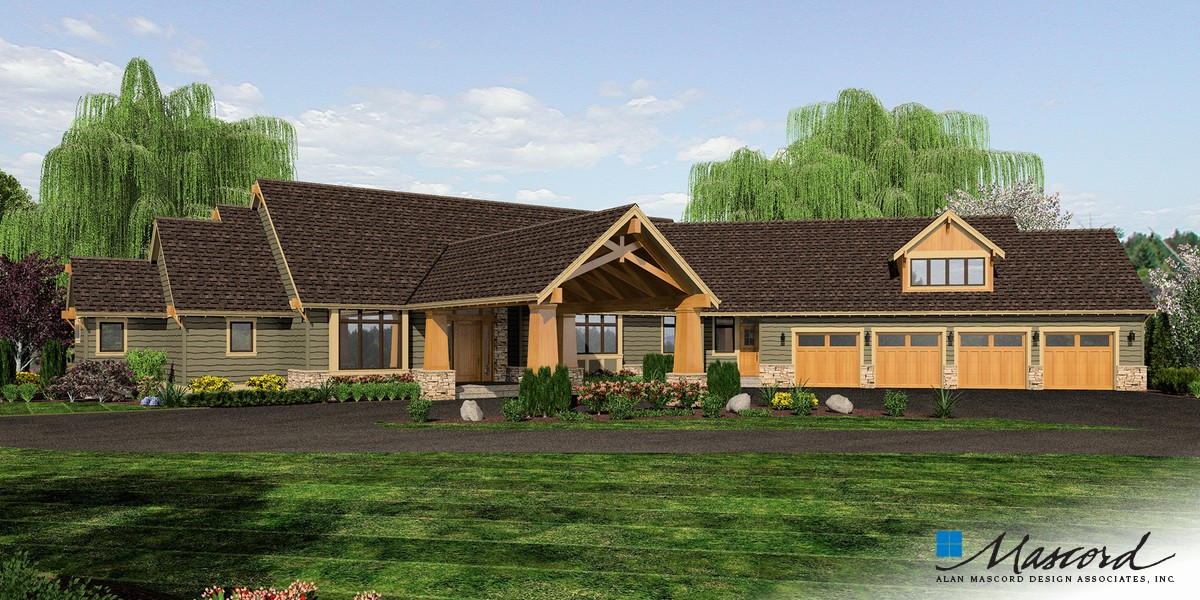 Mascord house plan 2464 the manitoba for House plans manitoba