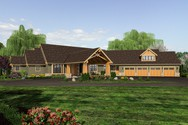 Front Rendering of Mascord House Plan 2464 - The Manitoba