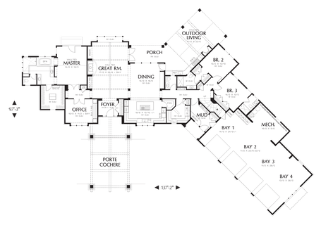 House plan 2464 the manitoba floor plan details for Manitoba house plans