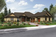 Front Rendering of Mascord House Plan 2468 - The Wickham