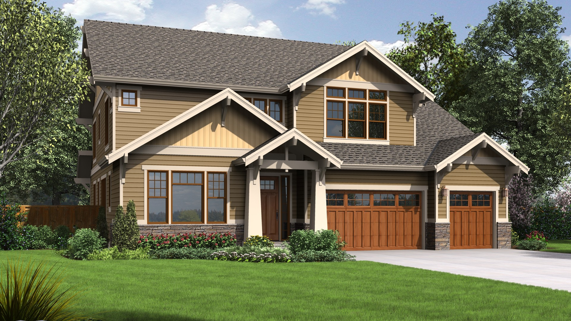 Craftsman house plan 2469 the tualatin 4177 sqft 5 for 5 bedroom craftsman house plans