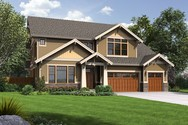 Front Rendering of Mascord House Plan 2469 - The Tualatin