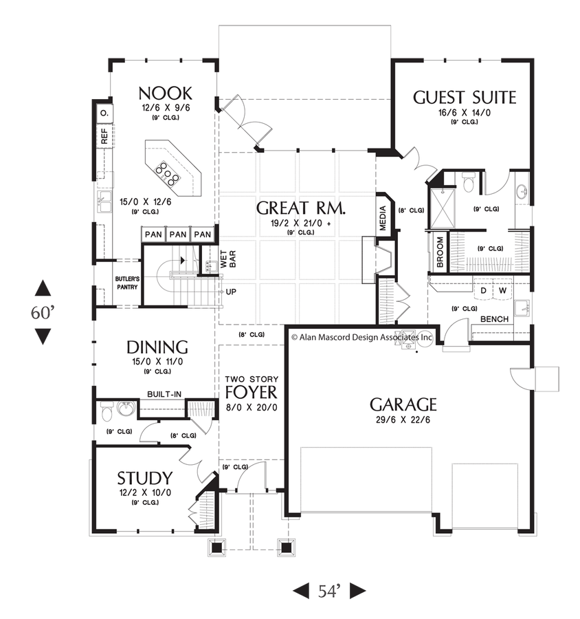 Image for Tualatin-Luxurious Craftsman Home with Attractive Amenities-Main Floor Plan