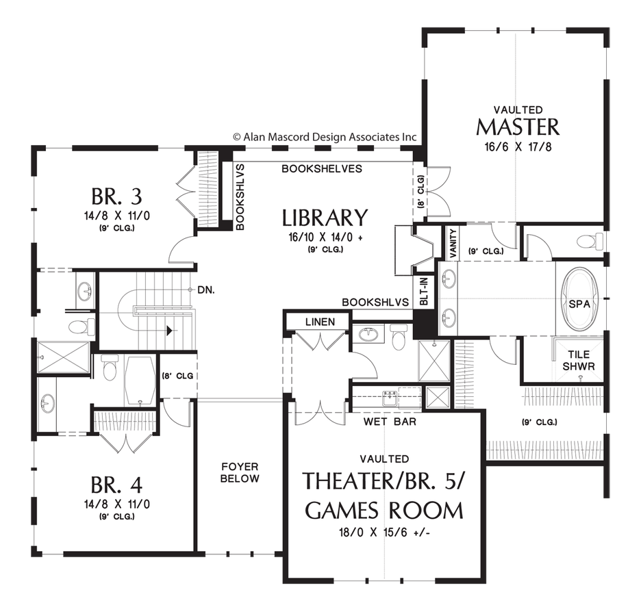 Image for Tualatin-Luxurious Craftsman Home with Attractive Amenities-Upper Floor Plan