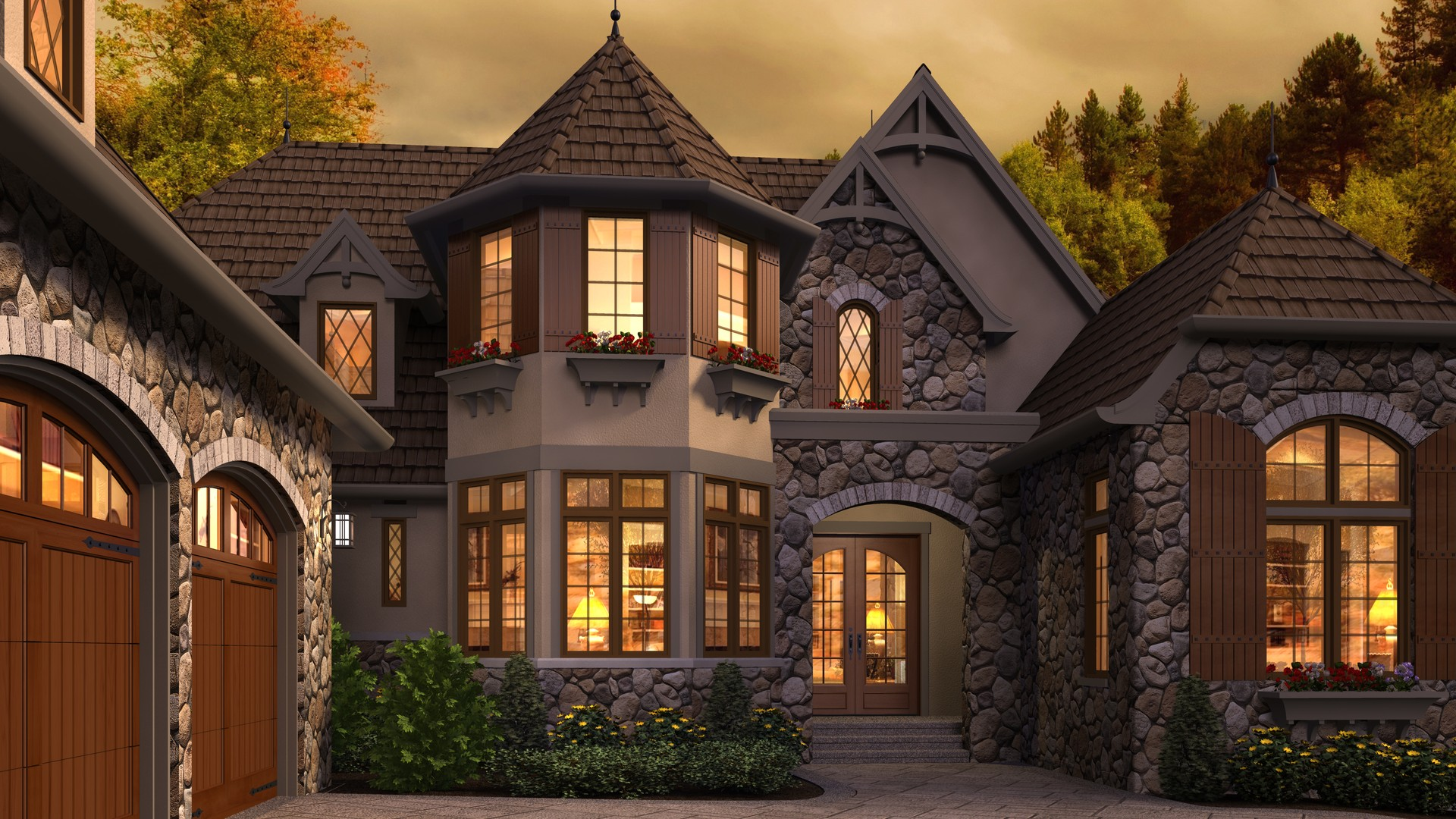 Cottage house plan 2470 the rivendell manor 4142 sqft 3 for Rivendell cottage house plans