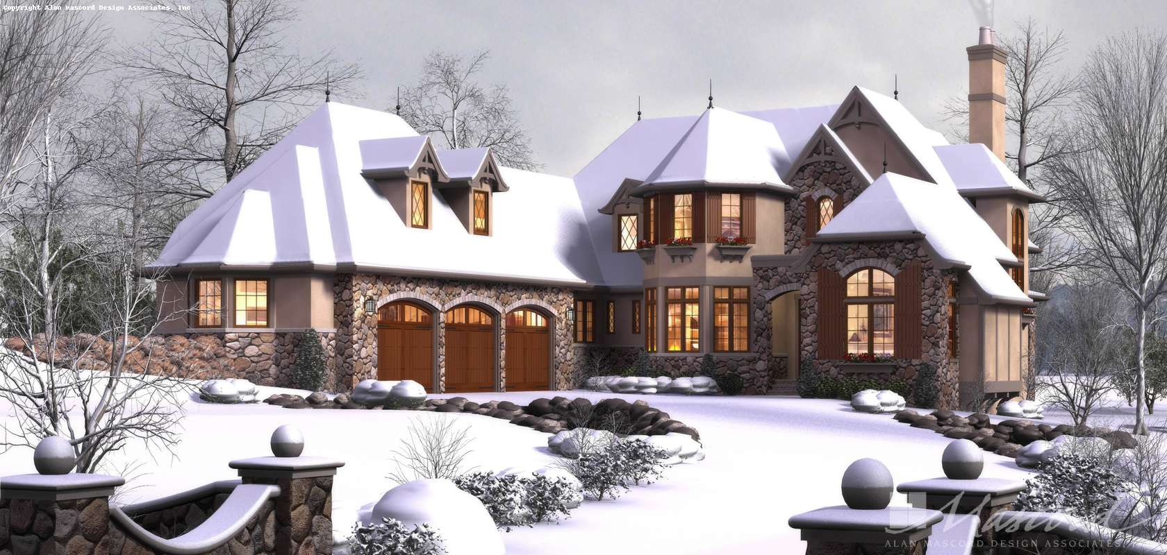 Mascord House Plan 2470: The Rivendell Manor