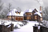 Front Rendering of Mascord House Plan 2470 - The Rivendell Manor